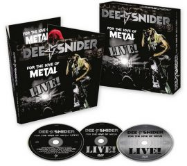 DEE SNIDER: For The Love Of Metal - Live! (Blu-ray+DVD+CD)