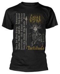 GOJIRA: Fortitude Tracklist (póló)